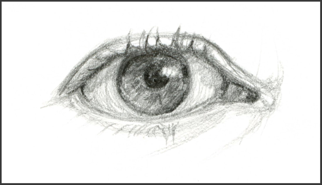 Sketch of an Eye by Amanda Barnaby