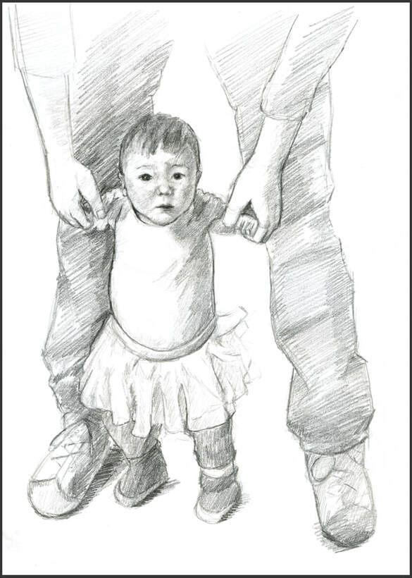 My niece sketch by Amanda Barnaby