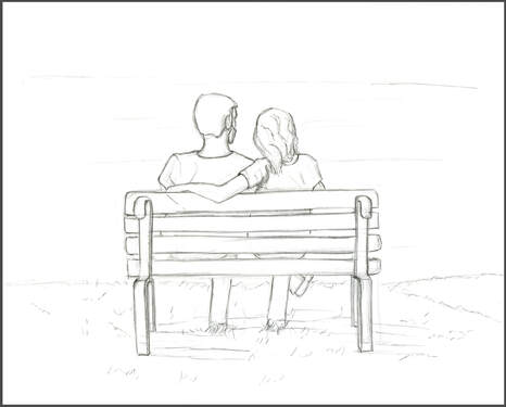 Couple on Bench Sketch