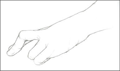 Gloved hand sketch