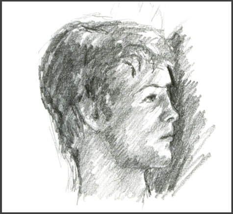 Portrait Sketch by Amanda Barnaby