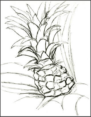 Lena Meijer Tropical Conservatory sketch by Amanda Barnaby