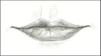 Pencil sketch of Lips
