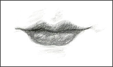 Lips sketch by Amanda Barnaby